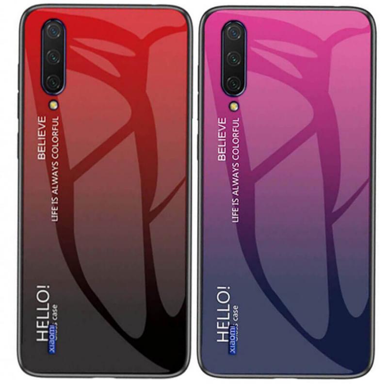 TPU+Glass чехол Gradient HELLO для Xiaomi Mi CC9 / Mi 9 Lite