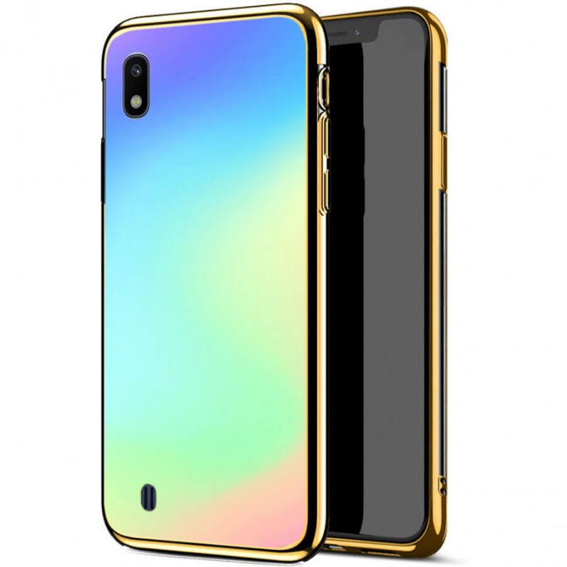 TPU+Glass чехол Gradient Rainbow без лого для Samsung Galaxy A10 (A105F)