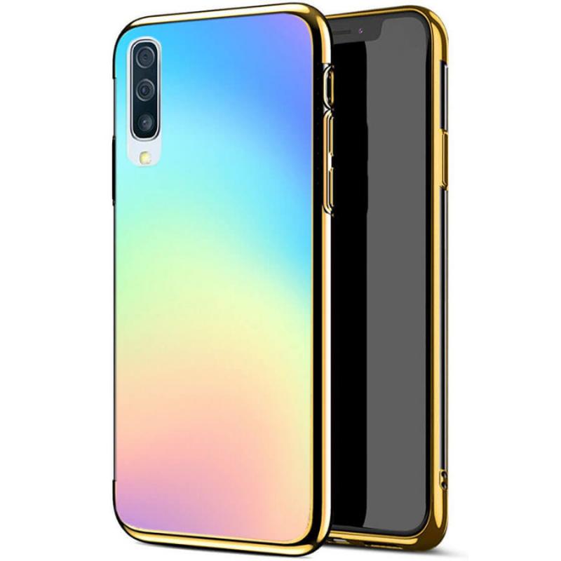 TPU+Glass чехол Gradient Rainbow без лого для Samsung Galaxy A50 (A505F) / A50s / A30s