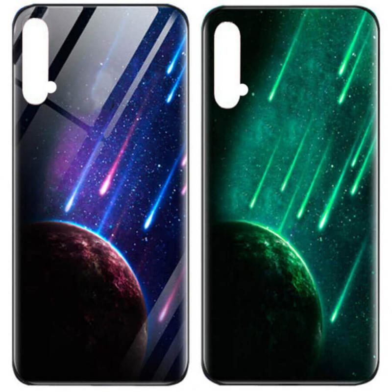 TPU+Glass чехол светящийся в темноте для Huawei Honor 20 / Nova 5T