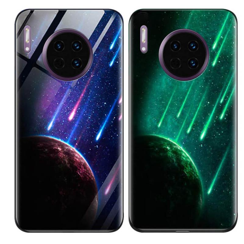 TPU+Glass чехол светящийся в темноте для Huawei Mate 30