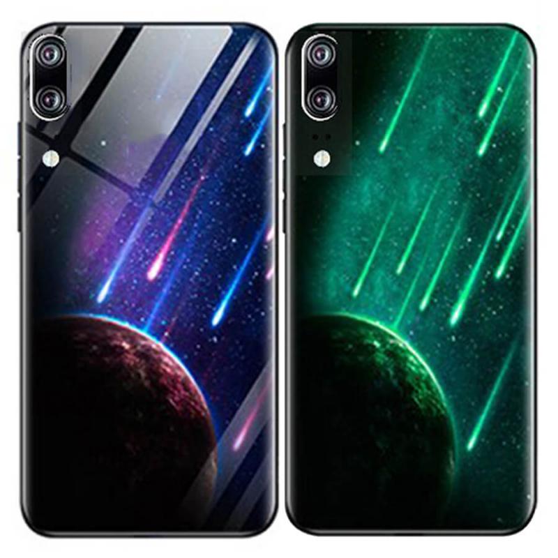 TPU+Glass чехол светящийся в темноте для Huawei P20