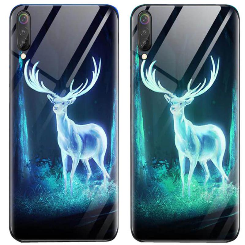 TPU+Glass чехол светящийся в темноте для Samsung Galaxy A70 (A705F)