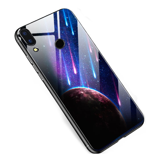 TPU+Glass чехол светящийся в темноте для Xiaomi Mi Play
