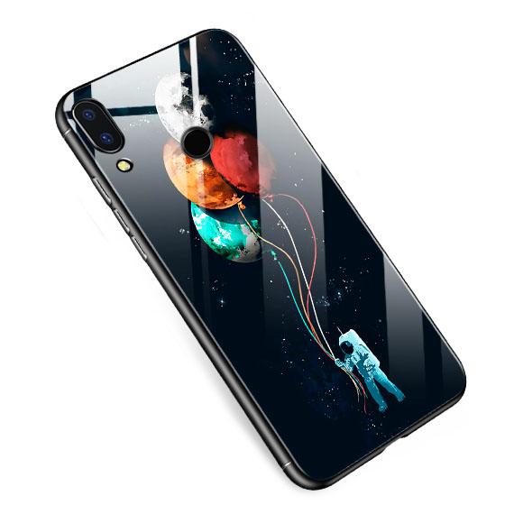 TPU+Glass чехол светящийся в темноте для Huawei P Smart (2019)