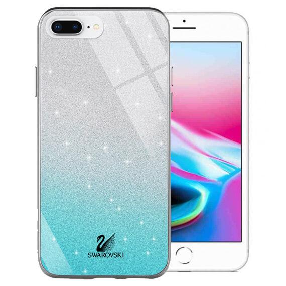 "TPU+Glass чехол Swarovski для Apple iPhone 8 plus (5.5"")"