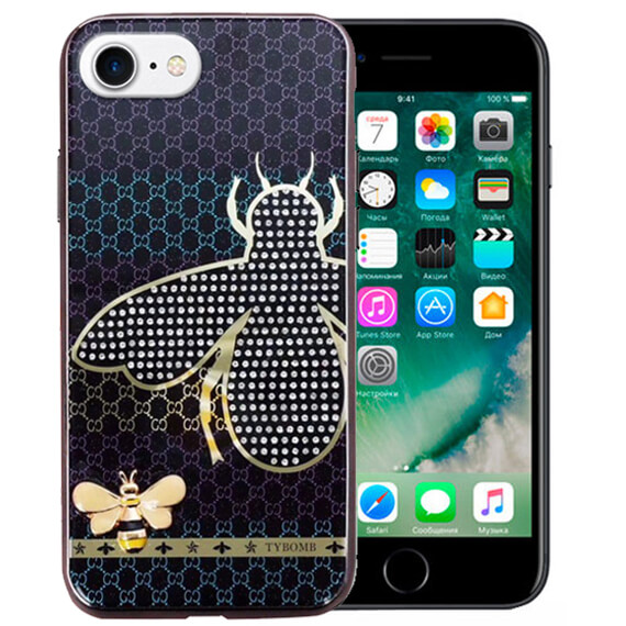 "TPU+Glass чехол TYBOMB Dimond Brand для Apple iPhone 8 (4.7"")"