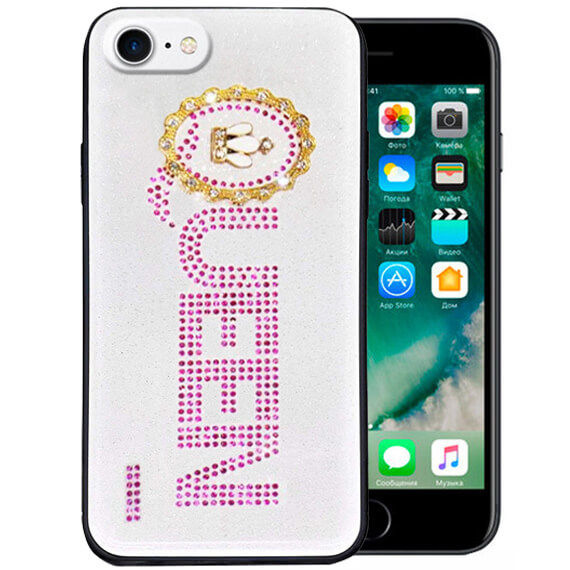 "TPU+Glass чехол TYBOMB Queen для Apple iPhone 8 (4.7"")"