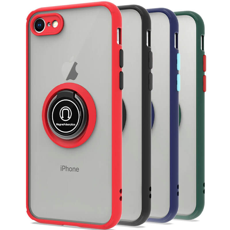 TPU+PC чехол Deen ColorEdgingRing for Magnet для Apple iPhone 7 / 8 / SE (2020)