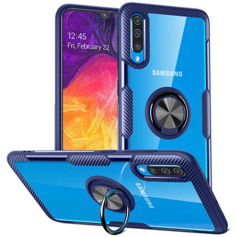 TPU+PC чехол Deen CrystalRing под магнитный держатель для Samsung Galaxy A50 (A505F) / A50s / A30s