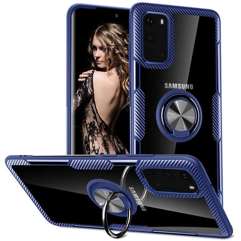 TPU+PC чехол Deen CrystalRing под магнитный держатель для Samsung Galaxy S20