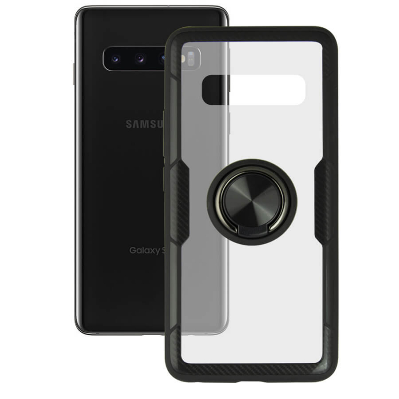 TPU+PC чехол Deen CrystalRing под магнитный держатель для Samsung Galaxy S10e