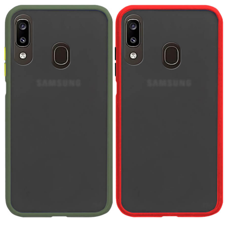 TPU+PC чехол Soft-touch with Color Buttons для Samsung Galaxy A20 / A30