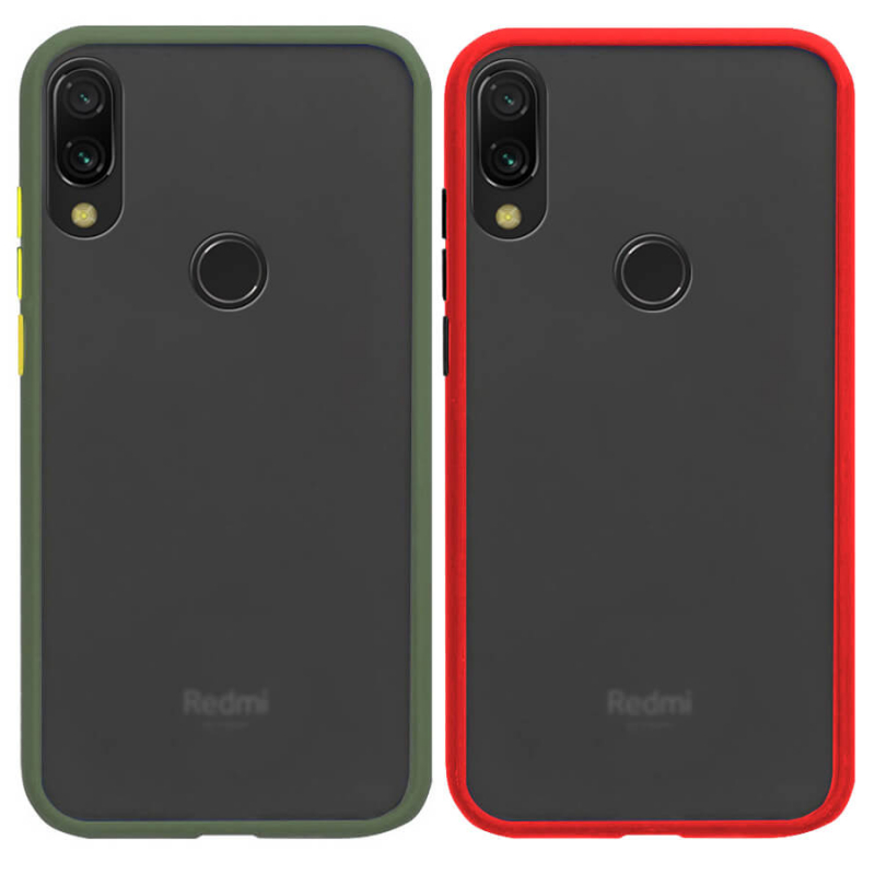 TPU+PC чехол Soft-touch with Color Buttons для Xiaomi Redmi Note 7 / Note 7 Pro / Note 7s