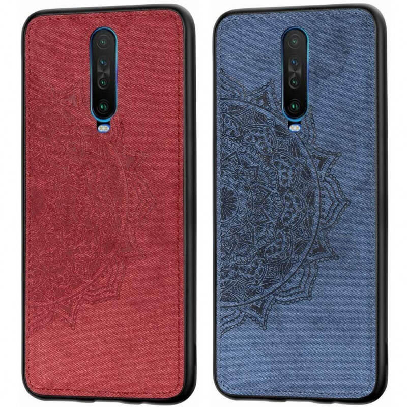 TPU+Textile чехол Mandala с 3D тиснением для Xiaomi Redmi K30 / Poco X2