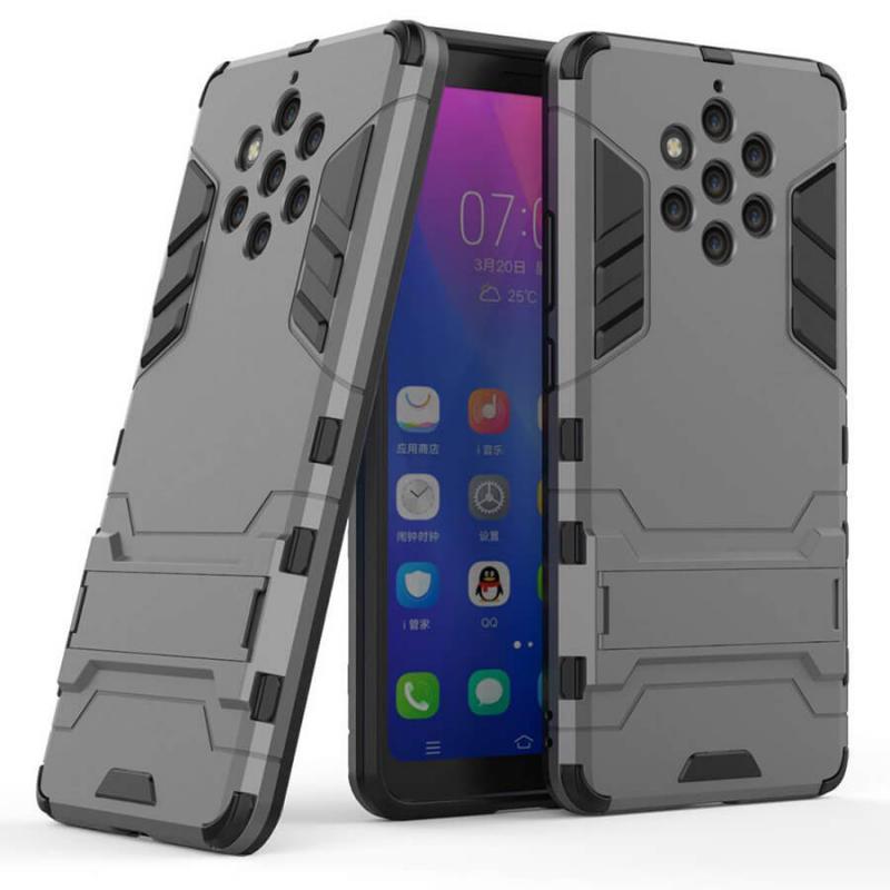 Ударопрочный чехол-подставка Transformer для Nokia 9 PureView с мощной защитой корпуса