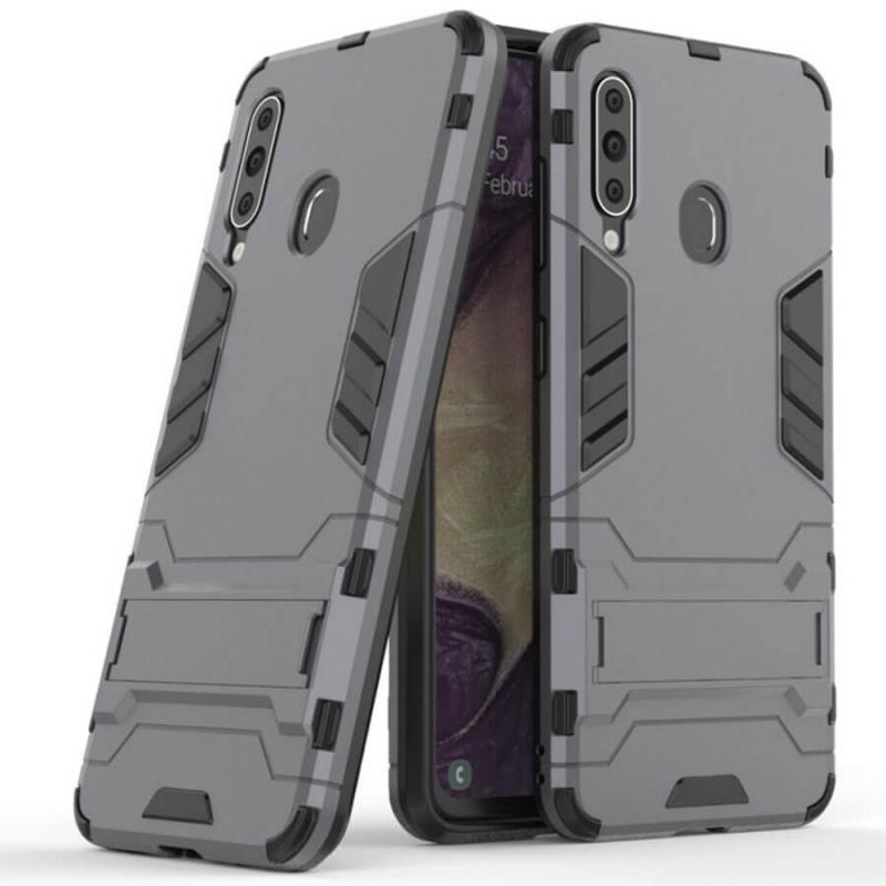 Ударопрочный чехол-подставка Transformer для Samsung Galaxy A60 (A606F) с мощной защитой корпуса