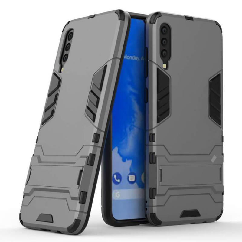Ударопрочный чехол-подставка Transformer для Samsung Galaxy A70 (A705F) с мощной защитой корпуса