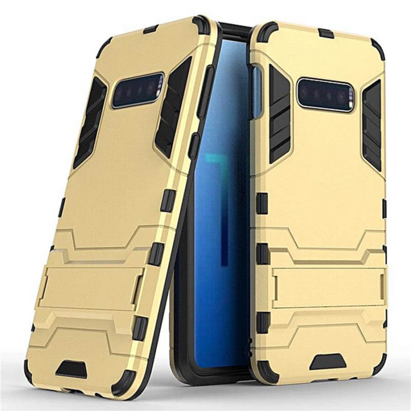 Ударопрочный чехол-подставка Transformer для Samsung Galaxy S10e с мощной защитой корпуса