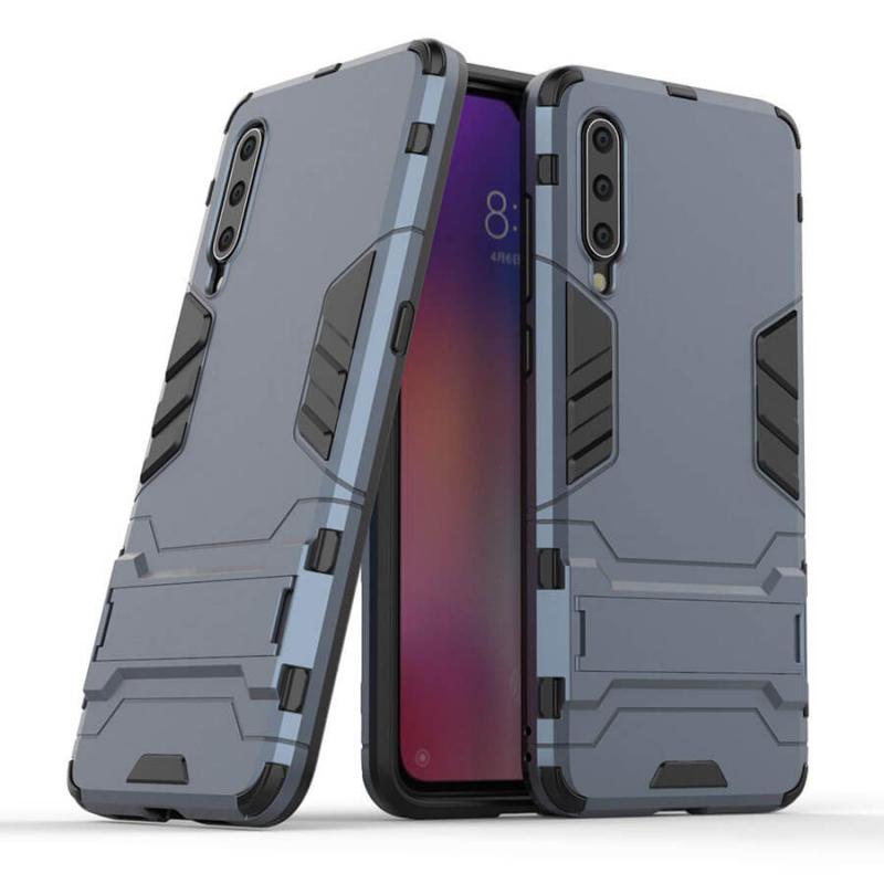 Ударопрочный чехол-подставка Transformer + пленка на камеру со скидкой 50% для Xiaomi Mi 9