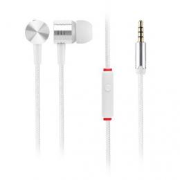Вакуумные наушники Headset EF-E4 с плетеным кабелем и микрофоном