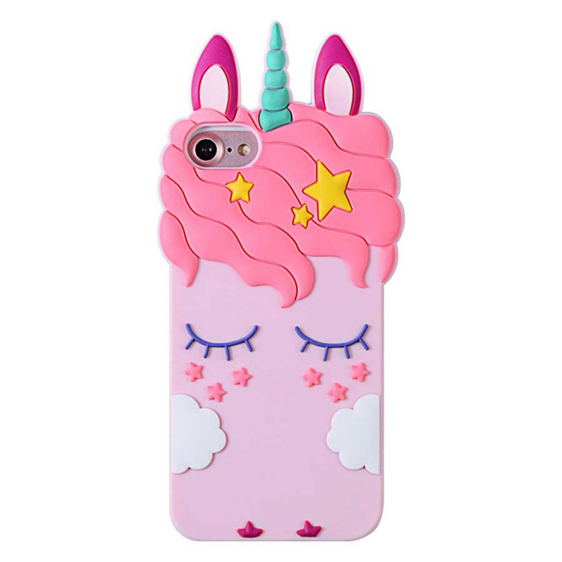 Силиконовая накладка 3D Little Unicorn для Apple iPhone 5/5S/SE