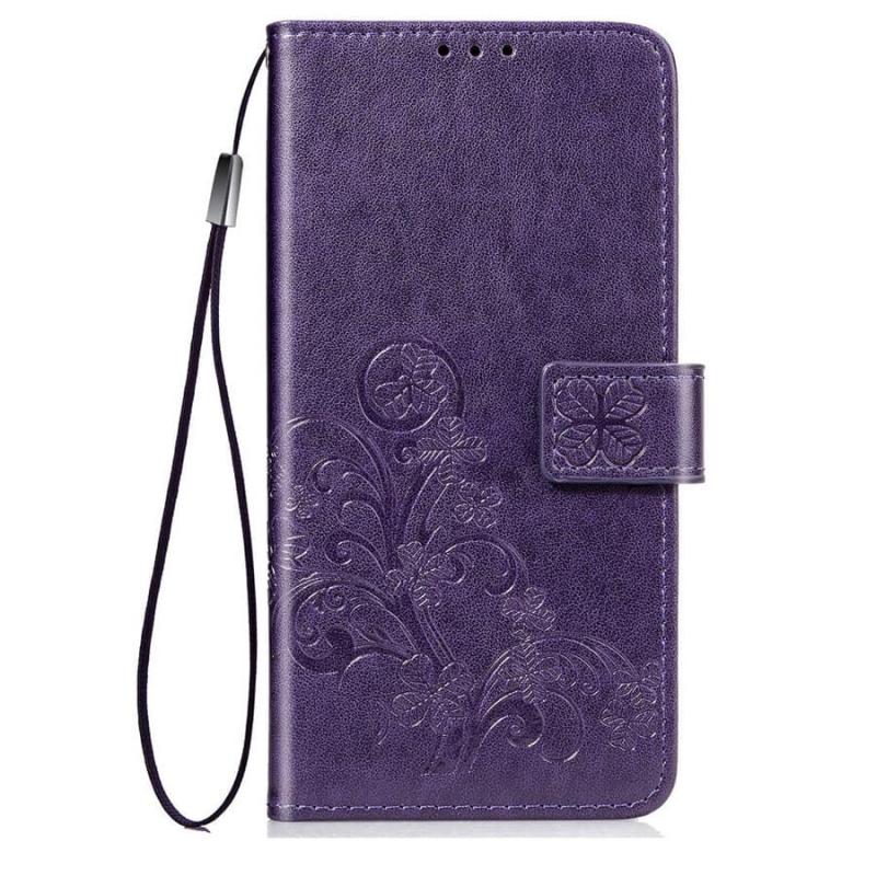 Кожаный чехол (книжка) Four-leaf Clover с визитницей для Xiaomi Redmi K30