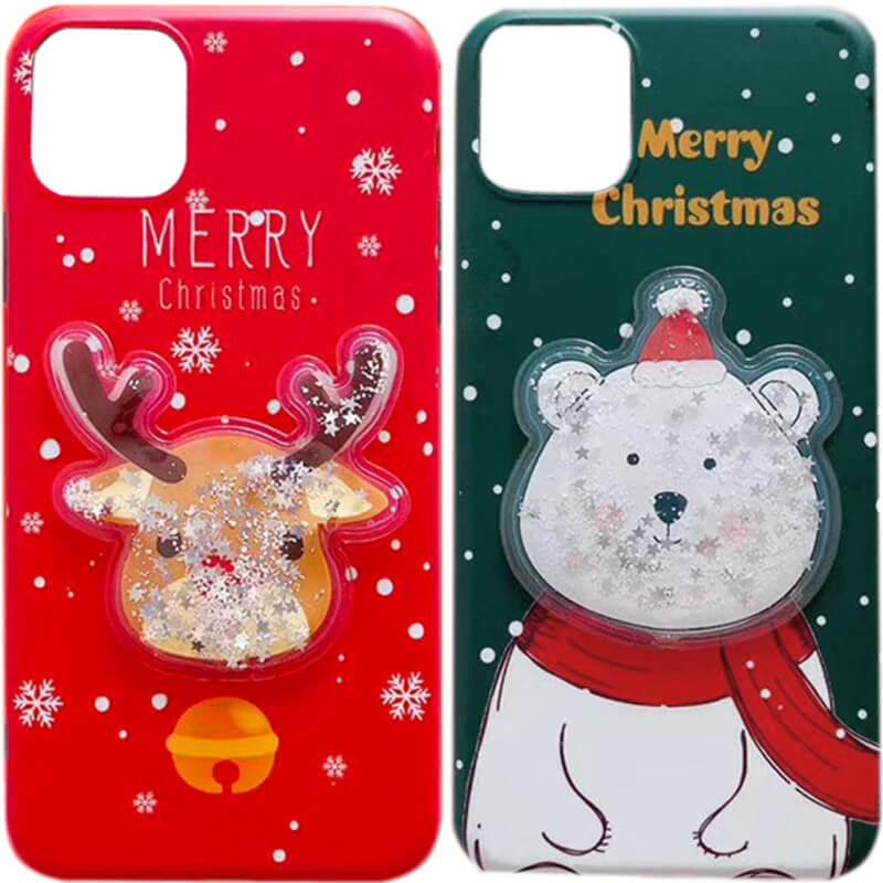 "TPU чехол Merry Christmas с жидкостью для Apple iPhone 11 (6.1"")"
