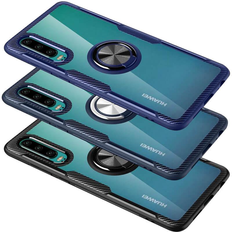 TPU+PC чехол Deen CrystalRing for Magnet (opp) для Huawei P30
