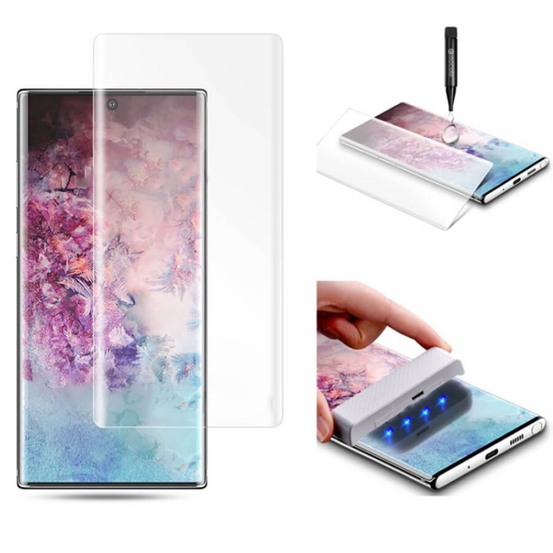 Защитное 3D стекло UV для Samsung Galaxy Note 10 Plus