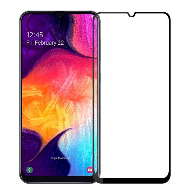 Защитное стекло 2.5D CP+ (full glue) для Samsung Galaxy A20 / A30 / A30s / A50/A50s/M30/M30s/M31/M21