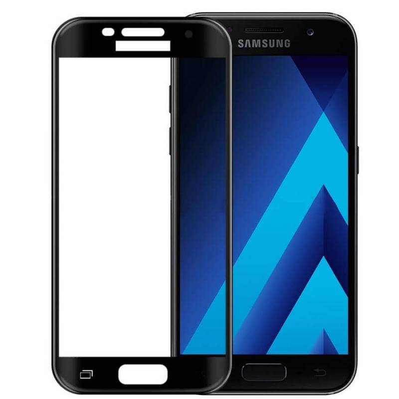 Защитное стекло 2.5D CP+ (full glue) для Samsung A520 Galaxy A5 (2017)