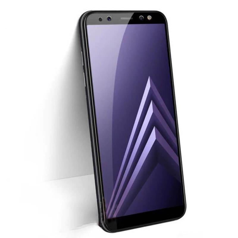Защитное стекло 2.5D CP+ (full glue) для Samsung A730 Galaxy A8+ (2018)