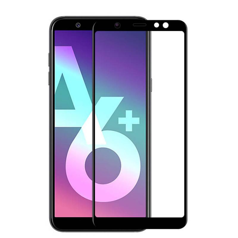 Защитное стекло 2.5D CP+ (full glue) для Samsung Galaxy A6 Plus (2018)