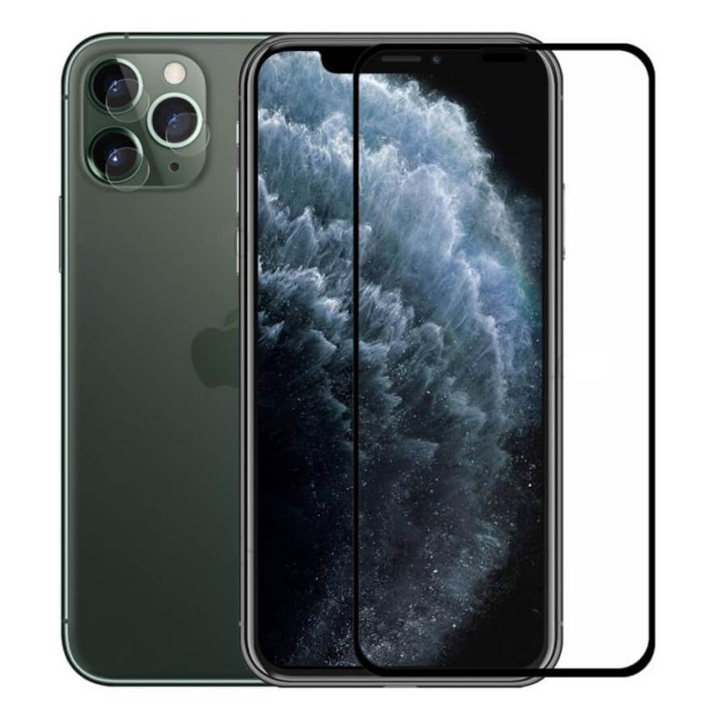 Защитное стекло 4D 9H (full glue) (без упаковки) для Apple iPhone  X / XS / 11 Pro
