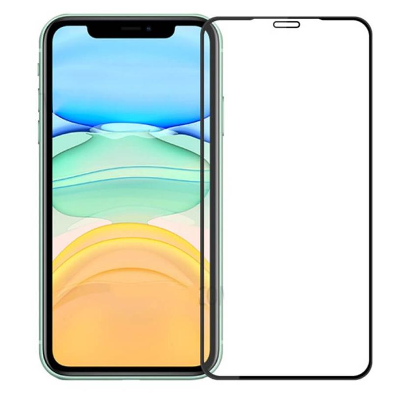 Защитное стекло 4D 9H (full glue) (без упаковки) для Apple iPhone XR / 11