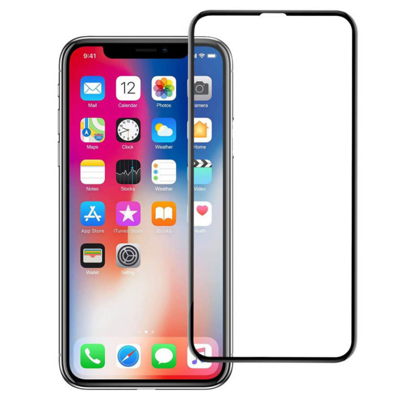 """Защитное стекло Autobot 5D (full glue) (без упаковки) для Apple iPhone 11 Pro (5.8"""") / X / XS"""