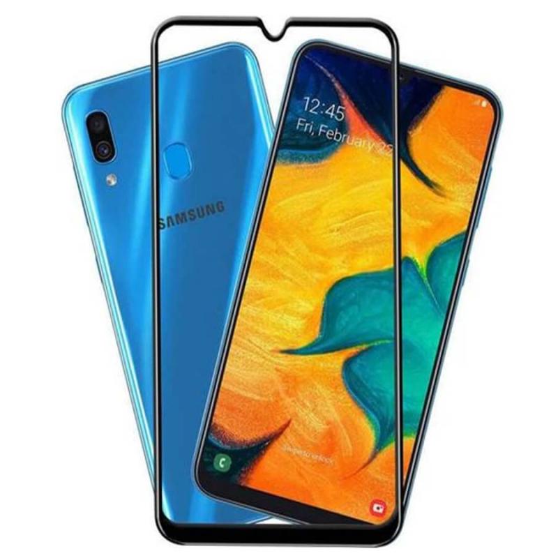 Защитное стекло SKLO 5D (full glue) для Samsung Galaxy A20 / A30 / A30s / A50 / A50s