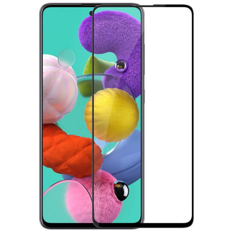 Защитное стекло SKLO 5D (full glue) для Samsung Galaxy A51 / M31s