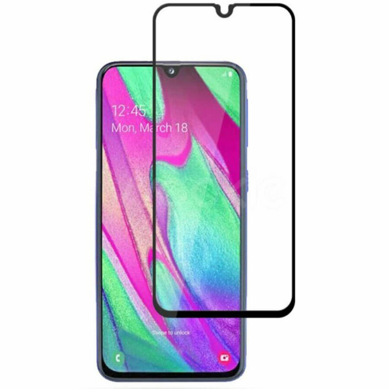 Защитное цветное 3D 9H стекло Mocolo (full glue) для Samsung Galaxy A40 (A405F)
