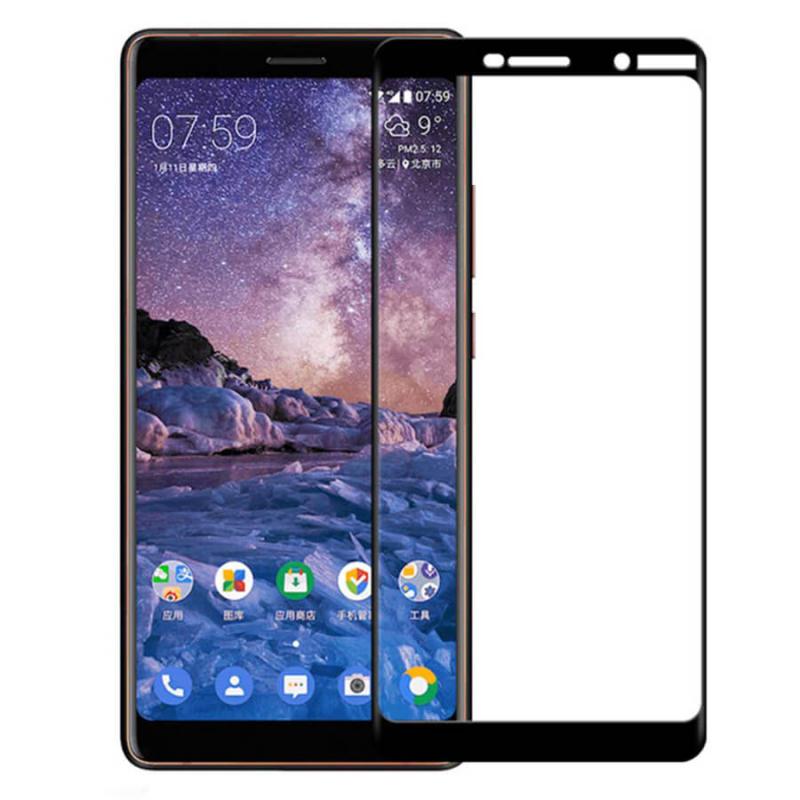 Защитное цветное стекло Mocolo (CP+) на весь экран для Nokia 7 plus