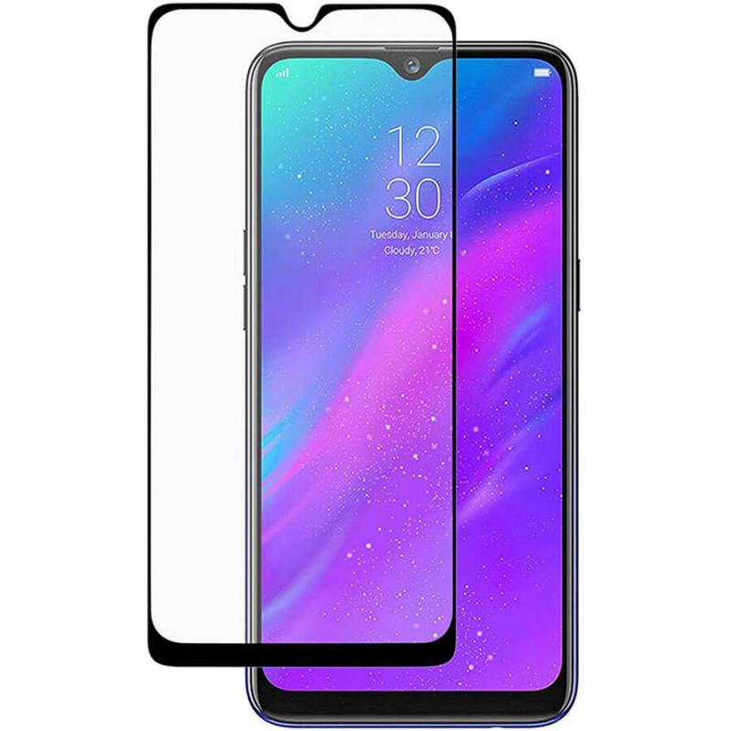 Защитное цветное стекло Mocolo (full glue) на весь экран для Oppo Realme X Lite