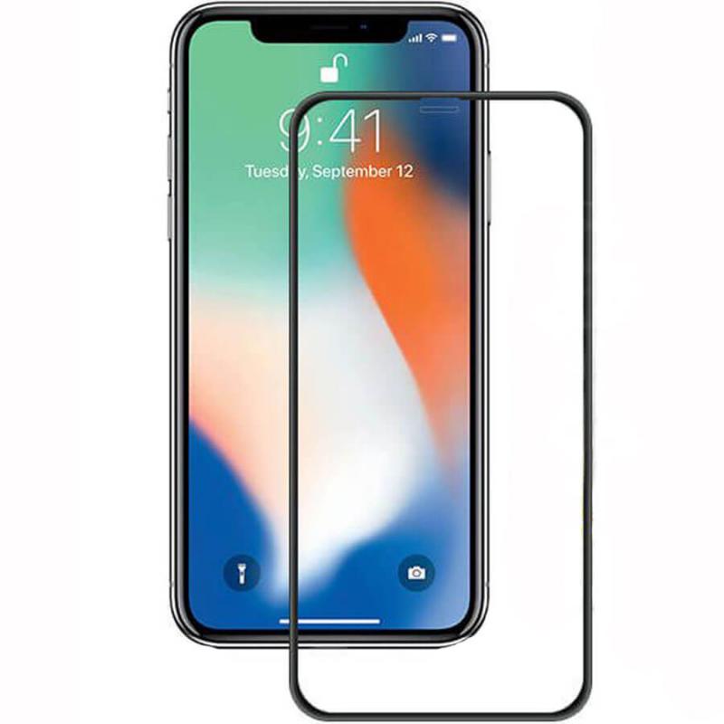 """Защитное цветное стекло Mocoson (full glue) на весь экран для Apple iPhone X / XS (5.8"""")"""