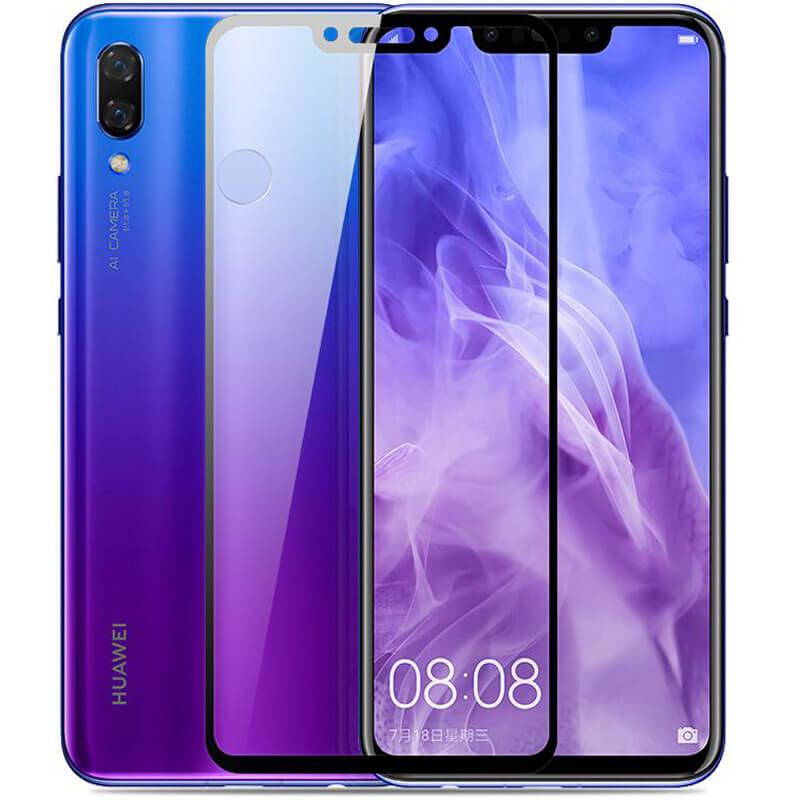Защитное цветное стекло Mocoson (full glue) на весь экран для Huawei P Smart+ (nova 3i)