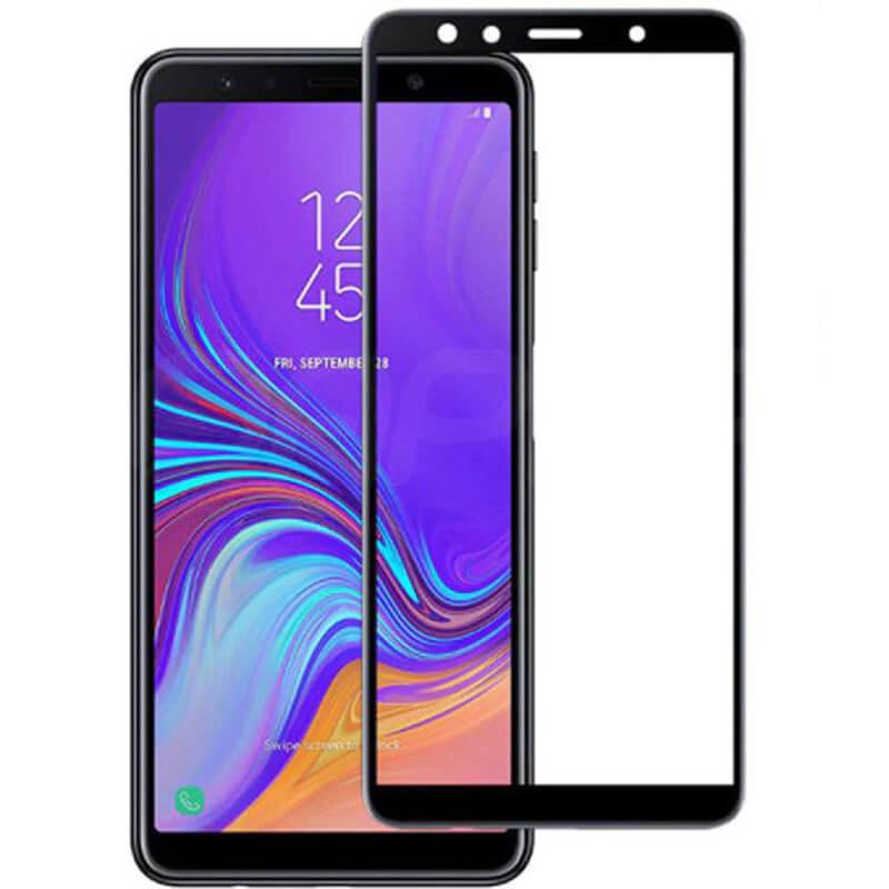 Защитное цветное стекло Mocoson (full glue) на весь экран для Samsung A750 Galaxy A7 (2018)