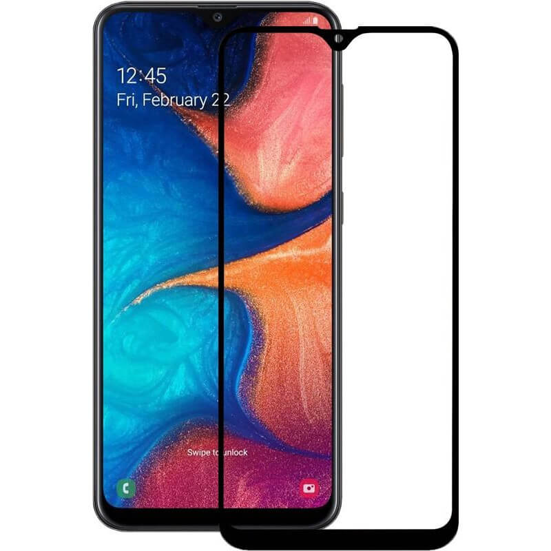 Защитное цветное стекло Mocoson 5D (full glue) для Samsung A20/A30/A30s/A50/A50s/M30s/M31/M21/M21s
