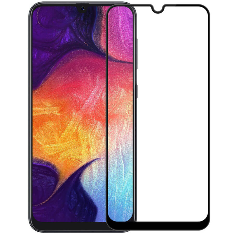 Защитное цветное стекло Mocoson (full glue) на весь экран для Samsung Galaxy A40 (A405F)