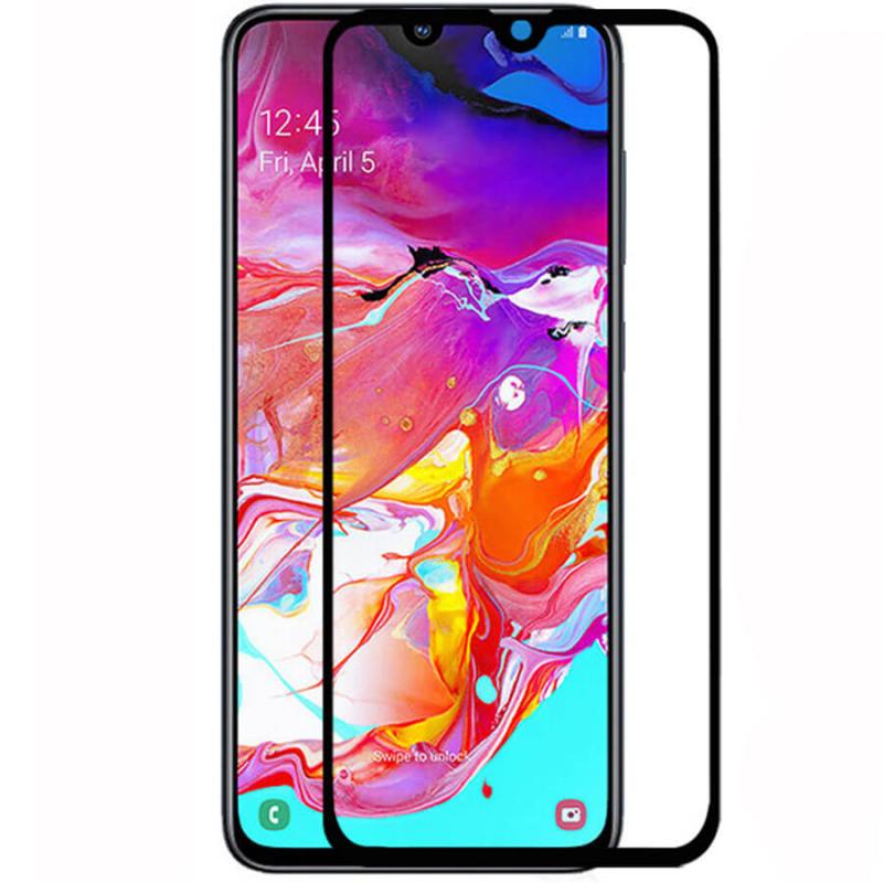 Защитное цветное стекло Mocoson (full glue) на весь экран для Samsung Galaxy A70 (A705F)