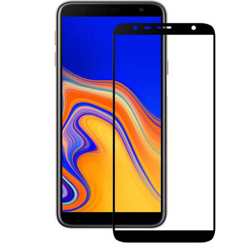 Защитное цветное стекло Mocoson (full glue) на весь экран для Samsung Galaxy J6+ (2018) (J610F)