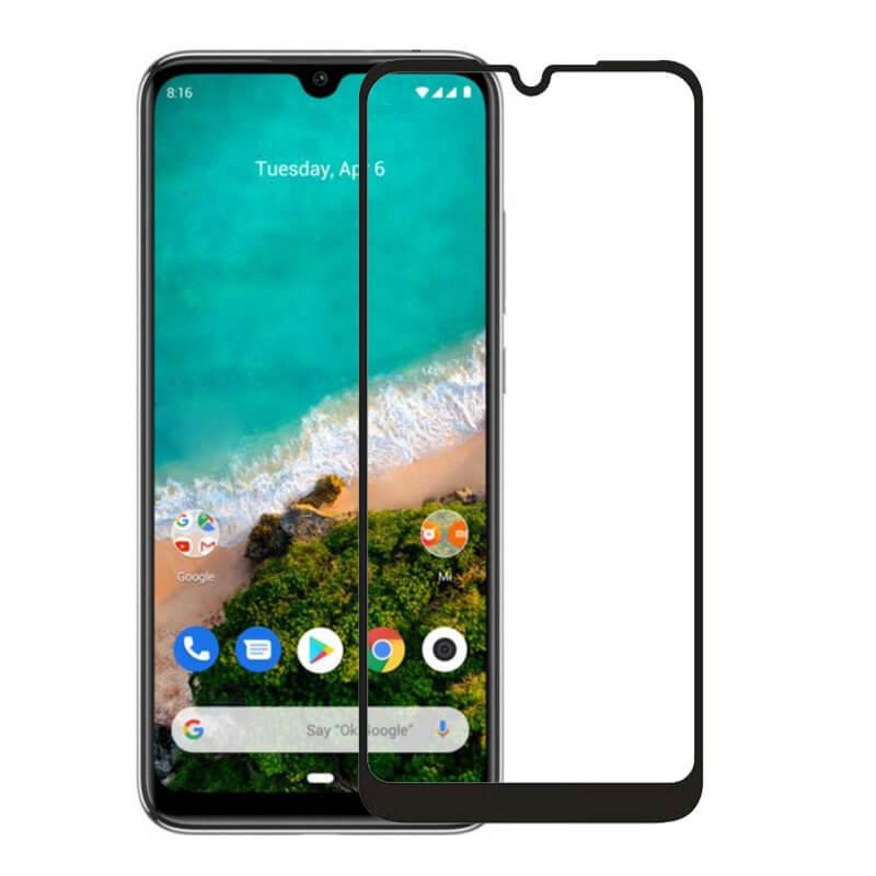 Защитное цветное стекло Mocoson (full glue) на весь экран для Xiaomi Mi A3 (CC9e)